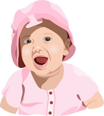 Free Clip Art Open Book. Clip art of a surprised baby
