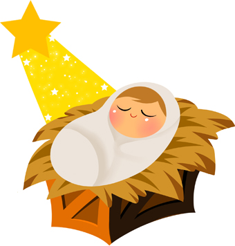 Baby Jesus Christmas Clipart