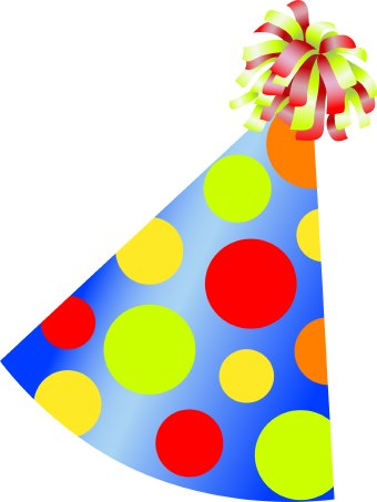 Birthday Cakes  Dogs on Clip Art Of A Colorful Conical Birthday Party Hat With Polka Dots And