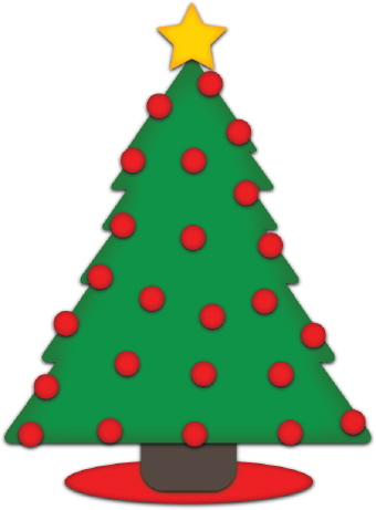 Clip art of a festive green 2011
