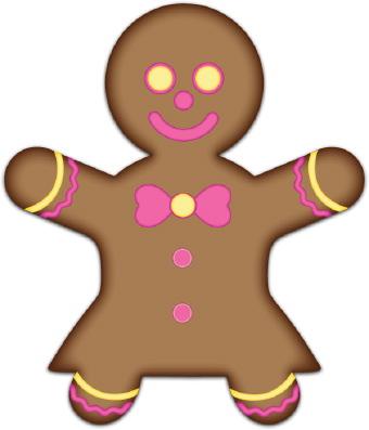 Cartoon Gingerbread Woman Gingerbread girl clip art