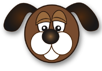 clipart dog face - photo #5