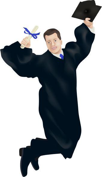 Graduation Cap Gown Clipart