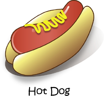 Drawings Of Nchili Hot Dogs
