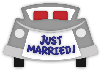 Just Married Car Cake Topper