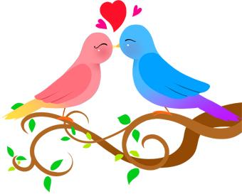 Blue Birds Wedding Cake Topper