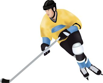 Clip art of hockey player skating with stick.: www.dailyclipart.net/clipart/hockey-player-clip-art