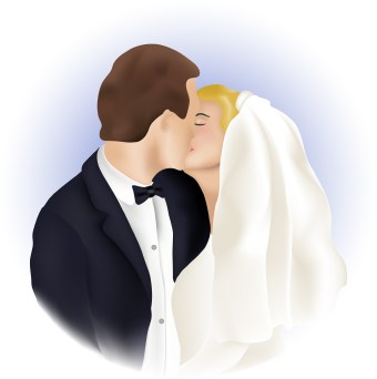 Wedding Kiss clip art