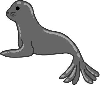 Sea lion clipart black and white - photo#26