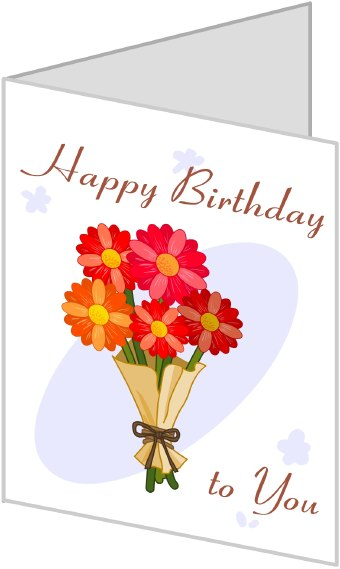 happy birthday pictures clip art. Clip art of a irthday card