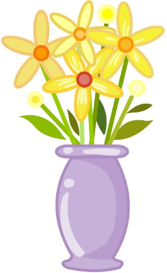 vase of flowers clip art clip art of a purple vase holding yellow    Vase Of Flowers Clip Art