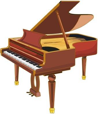 Clip art of a grand pianoUpright Piano Clip Art