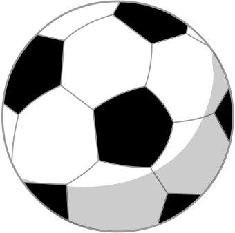 Soccer on Clip Art Of A Black And White Soccer Ball
