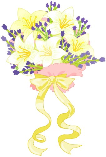 Wedding bouquet clip art A bouquet of flowers which includes white lilies