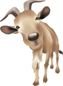 Brown Goat clip art