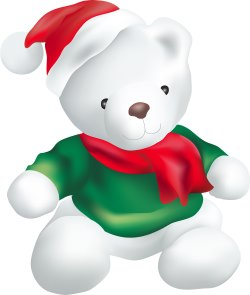 Christmas Bear clip art