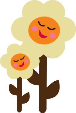 Happy Flowers clip art