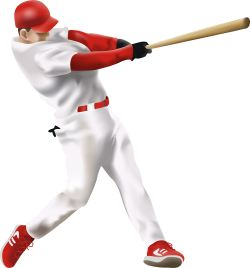 Baseball Batter clip art