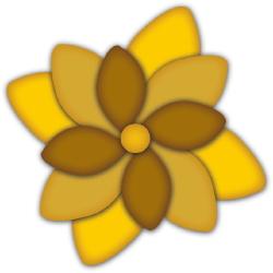 Three Layered Flower clip art